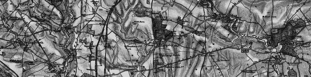 Old map of Ampney Sheephouse in 1896
