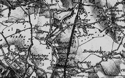 Old map of Barnston in 1896