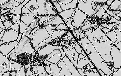 Old map of Whatton Fields in 1899