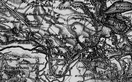Old map of Barnton in 1896