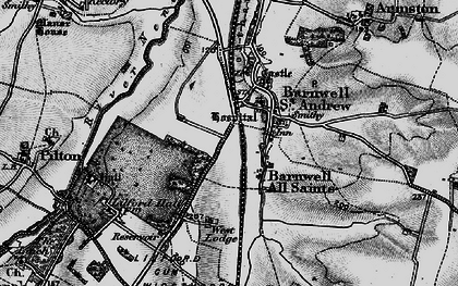 Old map of Barnwell in 1898