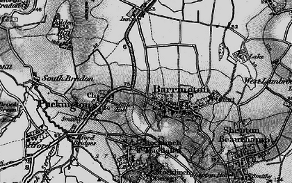 Old map of Barrington in 1898