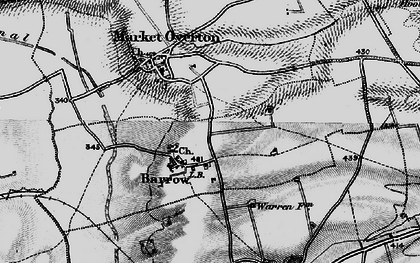 Old map of Barrow in 1895
