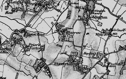 Old map of Barrow in 1896