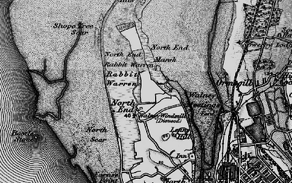 Old map of Barrow in 1897