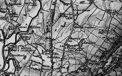 Old map of Barrow in 1898