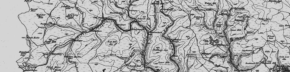 Old map of Windyhaugh in 1897
