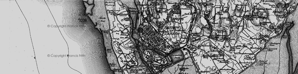 Old map of Barrow-In-Furness in 1897