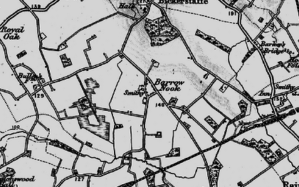 Old map of Barrow Nook in 1896