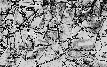 Old map of Barrow Street in 1898