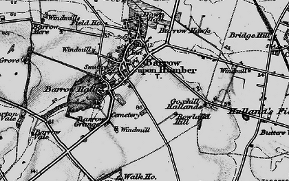 Old map of Barrow upon Humber in 1895