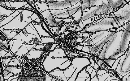 Old map of Barrow upon Soar in 1899