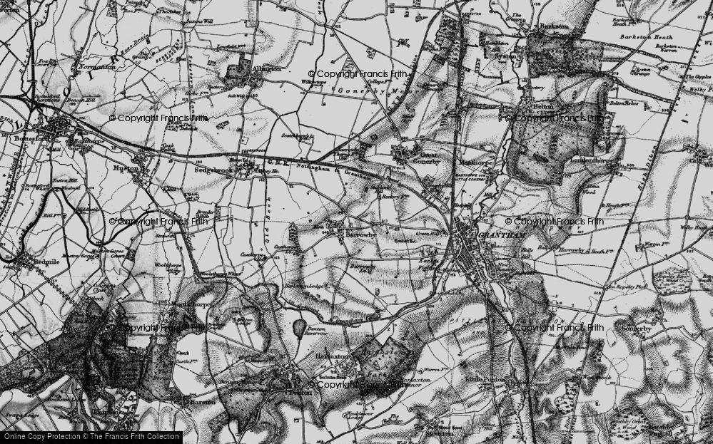 Old Map of Barrowby, 1899 in 1899
