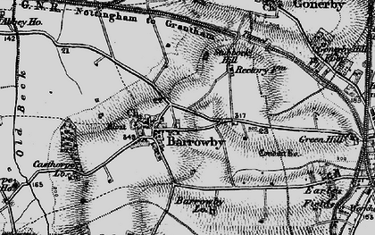 Old map of Barrowby in 1899