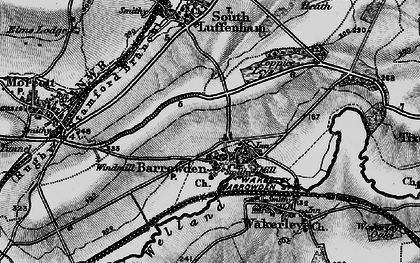 Old map of Barrowden in 1898