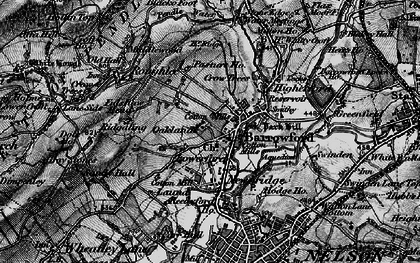 Old map of Barrowford in 1898