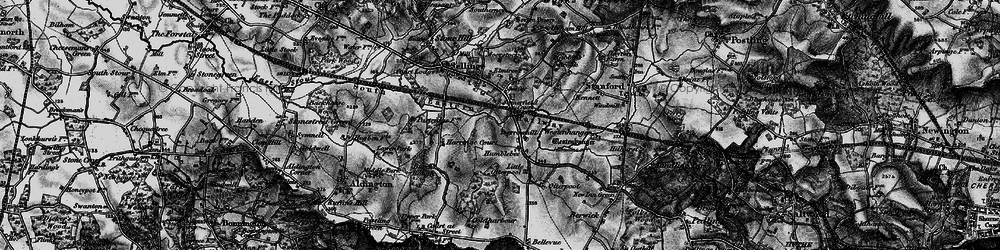Old map of Westenhanger in 1895