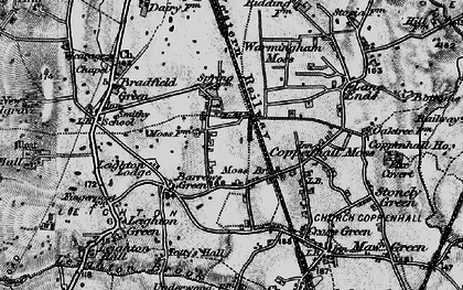 Old map of Leighton Lodge in 1897