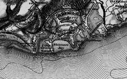 Old map of Barry Island in 1898