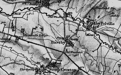Old map of Barsby in 1899