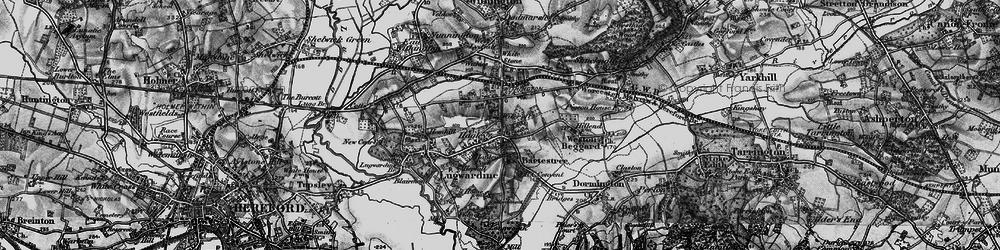 Old map of Wilcroft in 1898