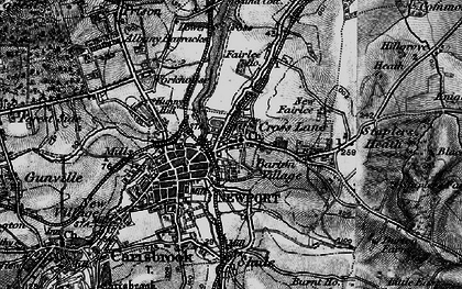 Old map of Barton in 1895