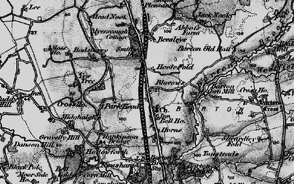 Old map of Barton in 1896