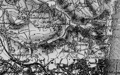 Old map of Barton in 1898