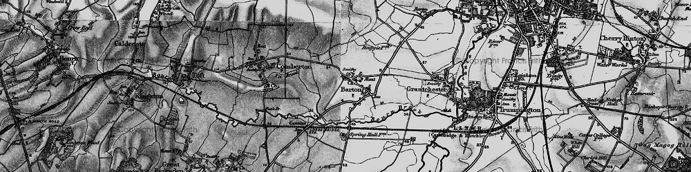 Old map of Tit Brook in 1898