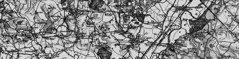Old map of Barton Gate in 1898