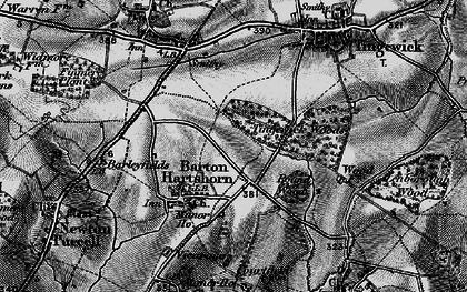 Old map of Barton Hartshorn in 1896
