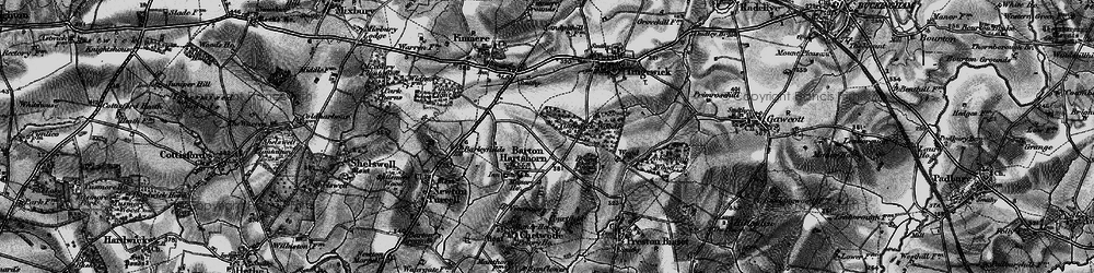 Old map of Tingewick Wood in 1896