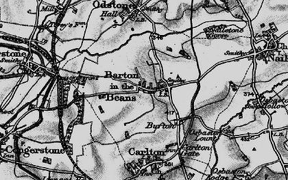 Old map of Barton in the Beans in 1895