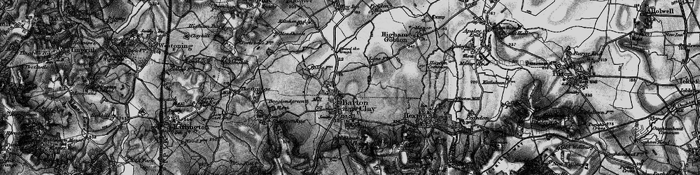 Old map of Barton-le-Clay in 1896