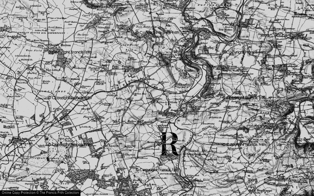 Old Map of Barton-le-Willows, 1898 in 1898
