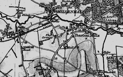 Old map of Barton Mills in 1898