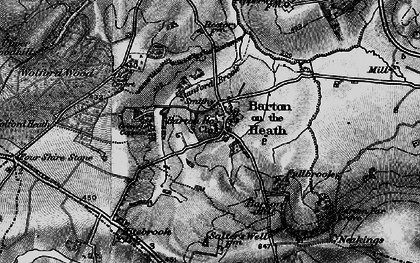 Old map of Barton-on-the-Heath in 1896