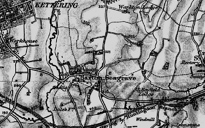 Old map of Barton Seagrave in 1898
