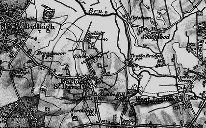 Old map of Barton St David in 1898