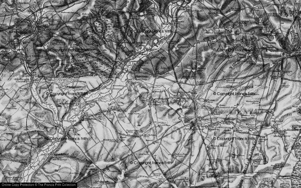 Old Map of Historic Map covering Tidbury Common in 1895