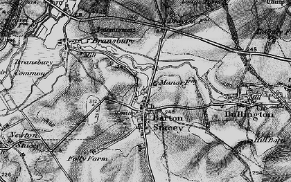 Old map of Tidbury Common in 1895