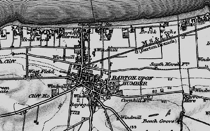 Old map of Barton-Upon-Humber in 1895