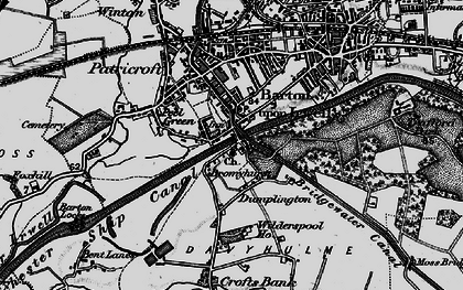 Old map of Barton Upon Irwell in 1896