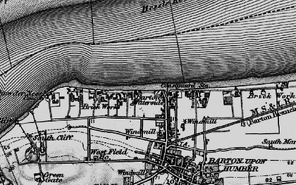 Old map of Barton Waterside in 1895