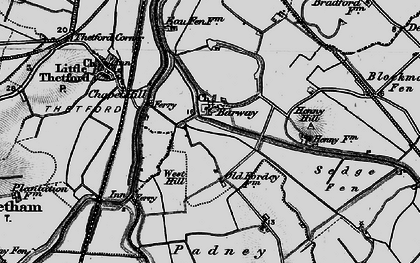 Old map of Barway in 1898