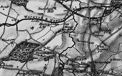 Old map of Bascote in 1898