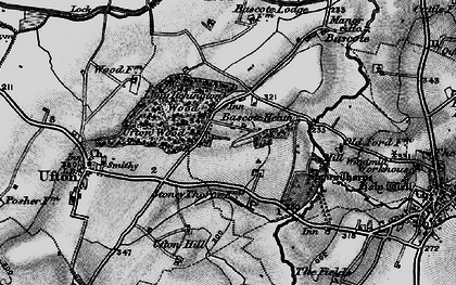 Old map of Bascote Heath in 1898