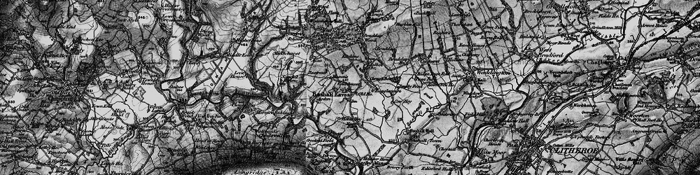 Old map of Bashall Eaves in 1896