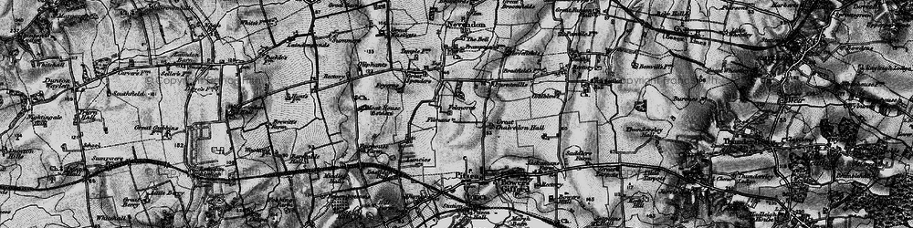 Old map of Basildon in 1896