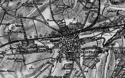 Old map of Basingstoke in 1895